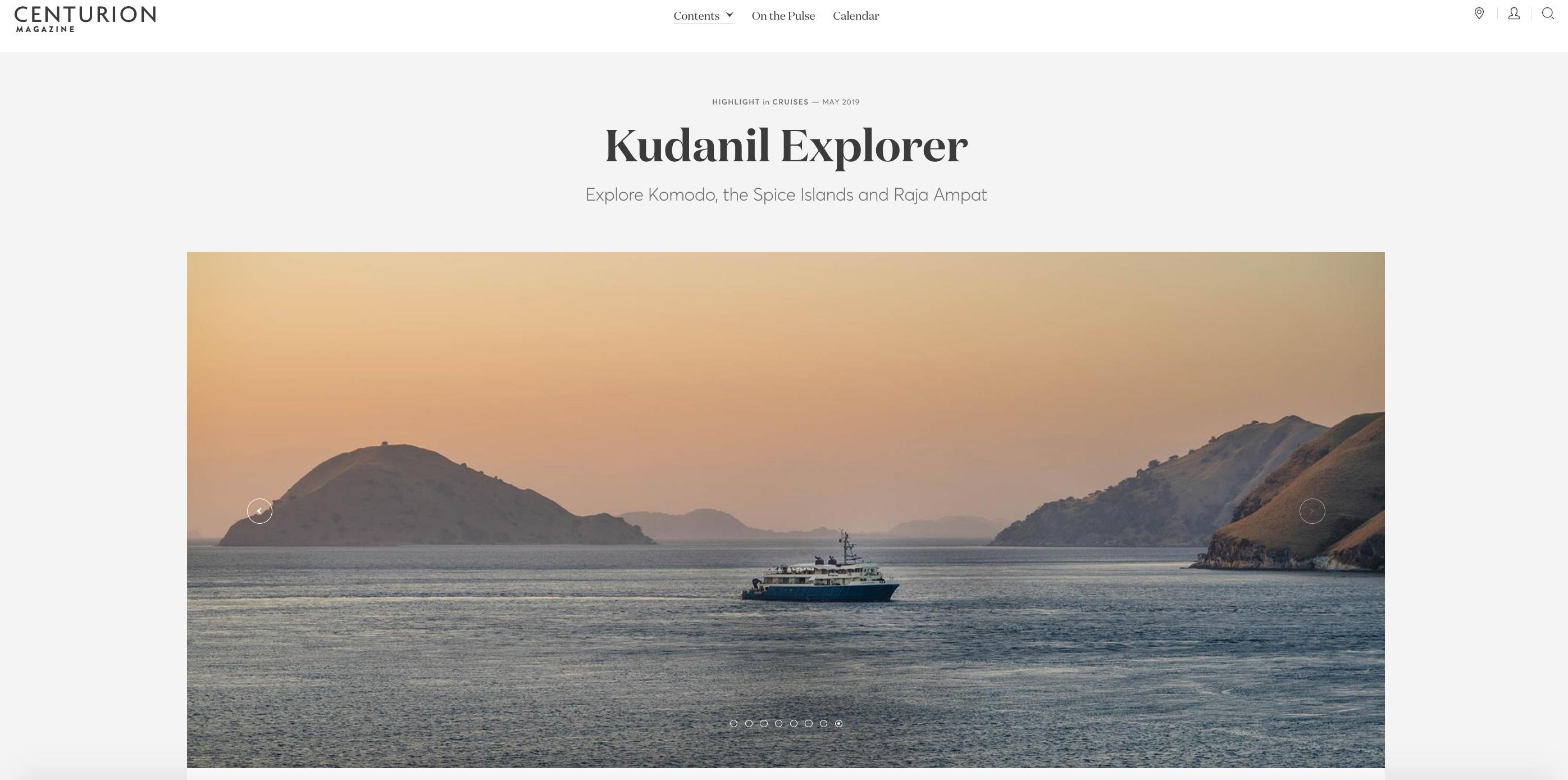Kudanil Explorer in Centurion Magazine