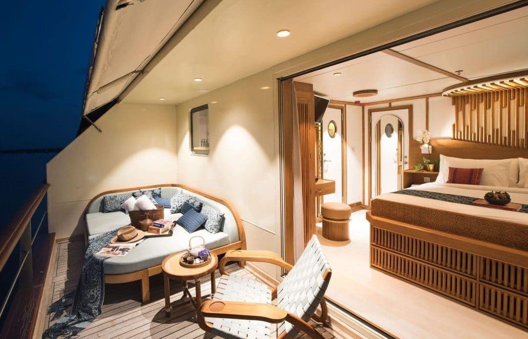 Kudanil Explorer Luxury Yacht Balcony Stateroom