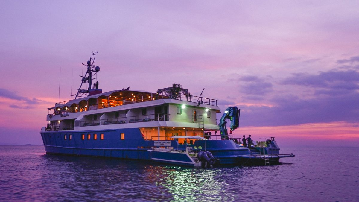 Convert a safety standby vessel into a luxury exploration yacht
