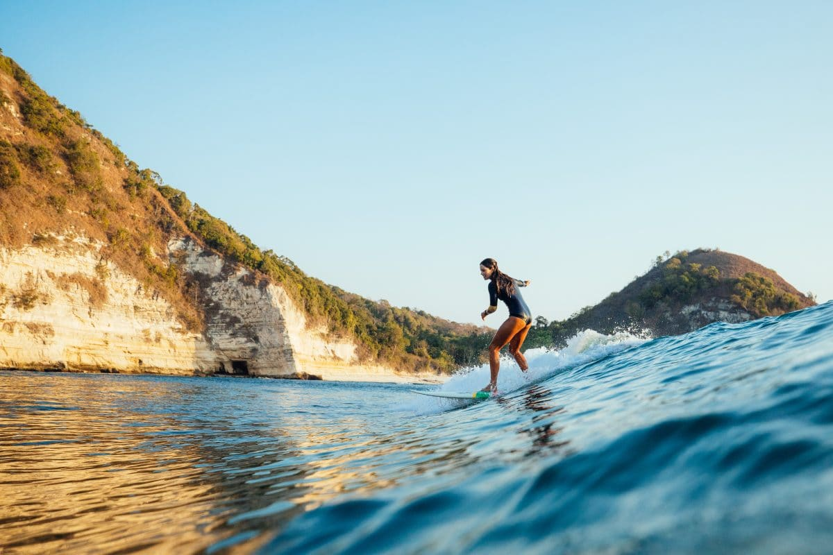 Luxurious Kudanil Explorer explores surf in East Indonesia with Zia Suarez and Nathan Hedge